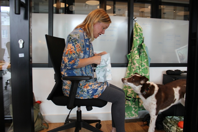 Lisa Lynch, strategy and innovation consultant at Lynch Strategies, pictured with her dog Sunny.